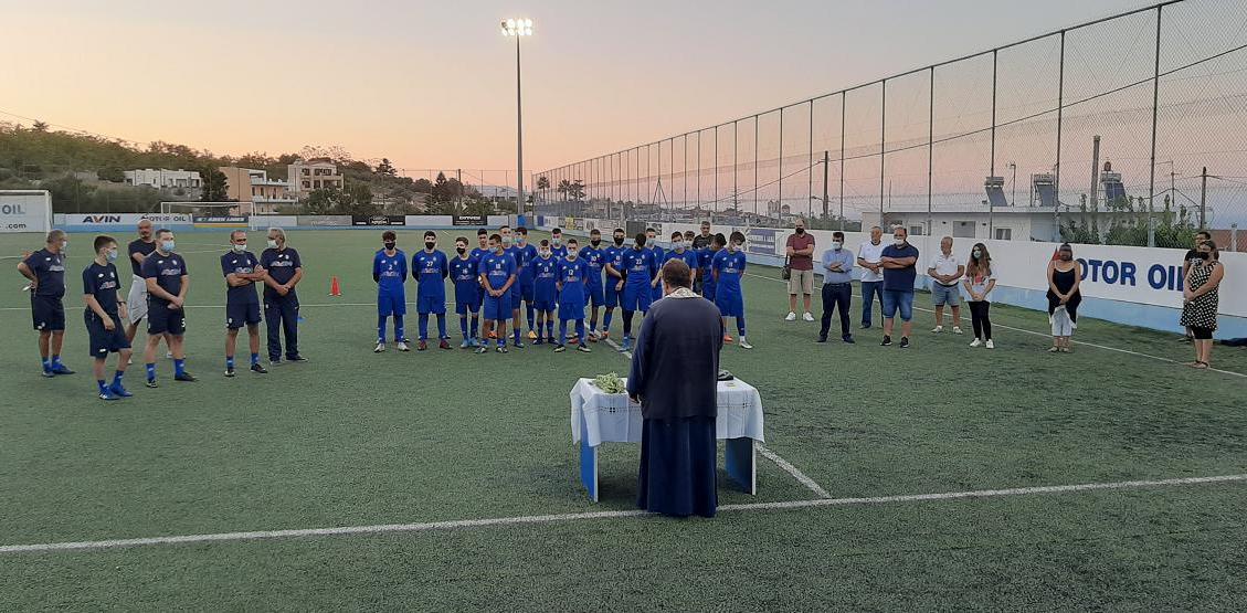 Την ευλογία για μία χρονιά γεμάτη υγεία και πρόοδο, έλαβαν οι ποδοσφαιριστές της Επισκοπής «under»